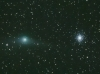 Comet Garradd and the Globular Cluster M92 in Hercules.