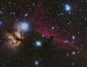 The Horsehead and Flame nebulae