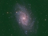 Almost face-on spiral Galaxy M33